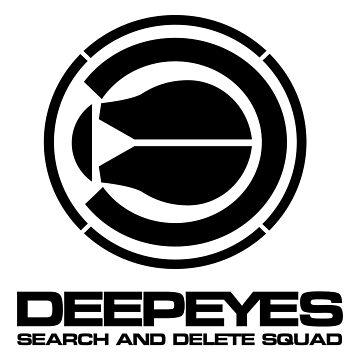 Final Fantasy Spirits Within - DEEP EYES Logo (Black) by misterDNA