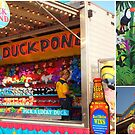 Colorful booths or signs from the Olmsted County Fair in Rochester, Minnesota by Nanagahma