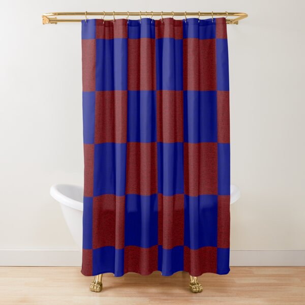 Red & Blue Square Shower Curtain