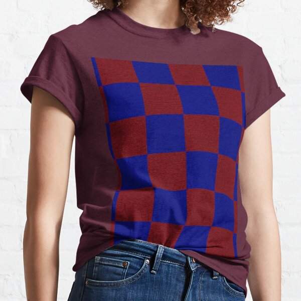 Red & Blue Square Classic T-Shirt