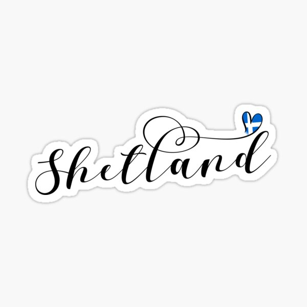 Heart Shetland Flag, Shetland Islands Sticker
