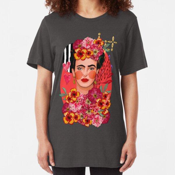 Frida Bouquet Slim Fit T-Shirt