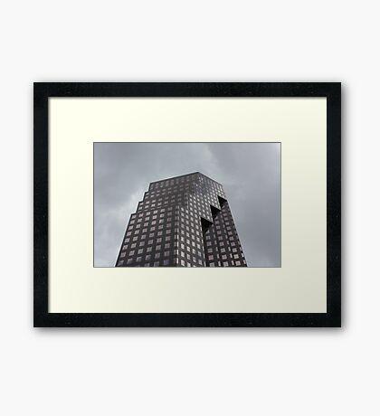 Serrated Slab Framed Print