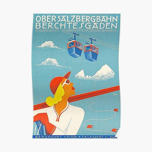 Berchtesgaden ObersalzbergBahn vintage poster Poster