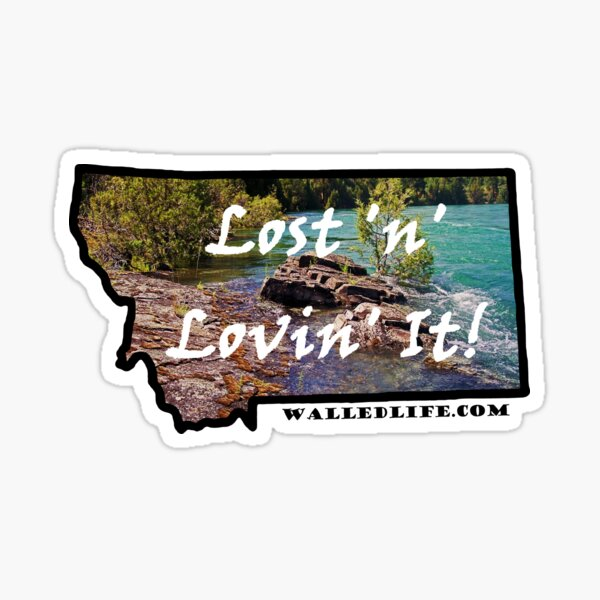 Montana Lower Flathead River Sticker