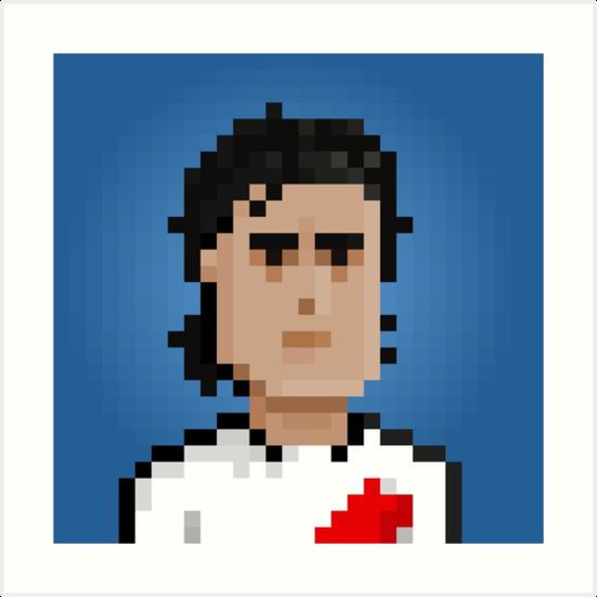 Ariel Ortega - River Plate by pixelfaces