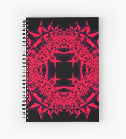 Pink Star Fractal Spiral Notebook