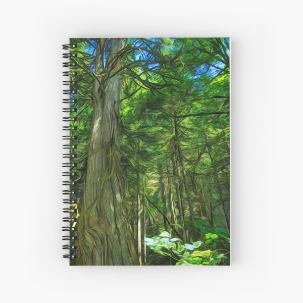 Forest Series: Reaching for the Top Spiral Notebook