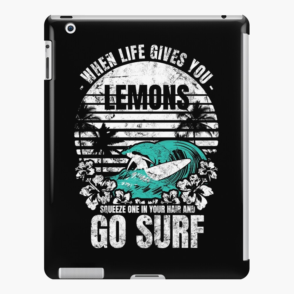Tropical Beach quote  Surfing  iPad-Hülle & Skin