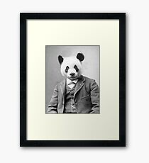 Distinguished Panda Framed Print