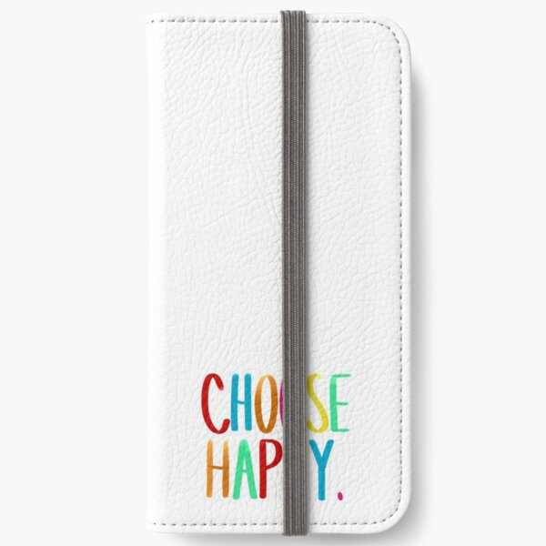 Choose happy. iPhone Flip-Case
