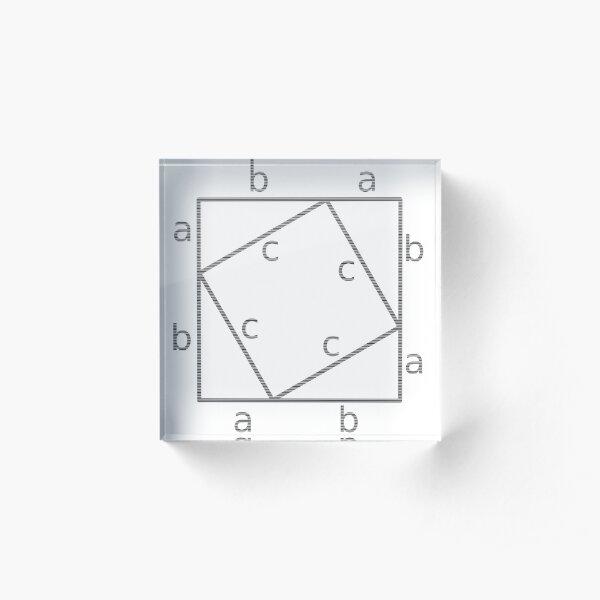 #Pythagoras #Theorem #PythagorasTheorem Acrylic Block