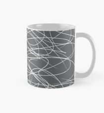 Hand Drawn Scribbles (Charcoal Grey) Classic Mug