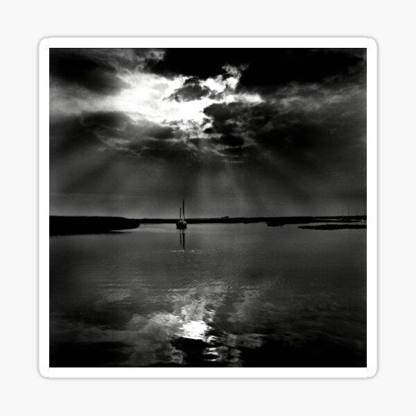Summer evening light at Brancaster Staithe, Norfolk, UK Sticker