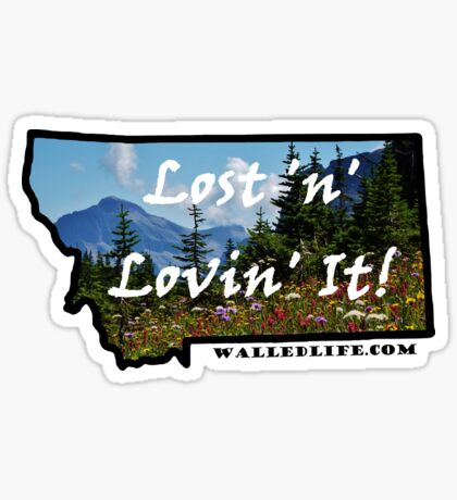 Montana Mountain Wildflowers Sticker