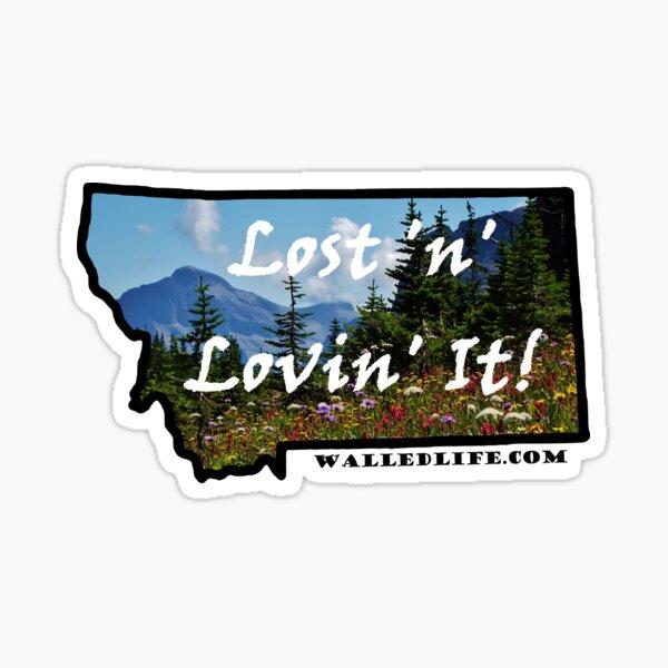 Montana Mountain Wildflowers Sticker