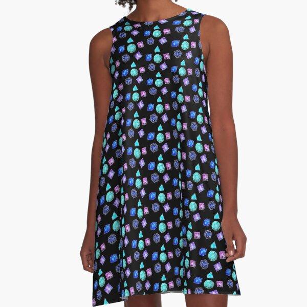 Neon dice A-Line Dress