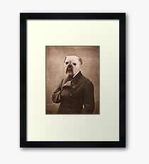 Distinguished Bulldog Framed Print