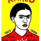 Frida Kahlo Pop Folk Art by krusefolkart