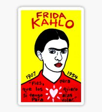 Frida Kahlo Pop Folk Art Sticker