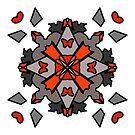 Red Mandala  by Moojan Azar