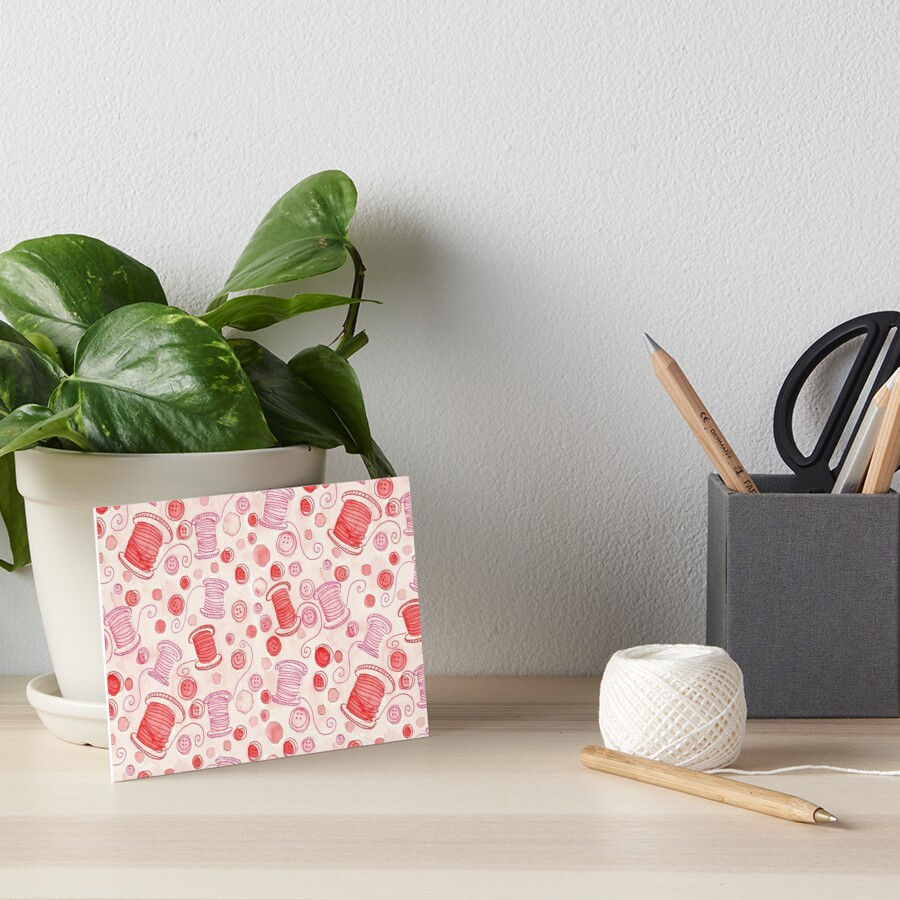 Let's Make Stuff - Sewing Art Board Print