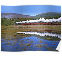Steam Train - Loch Eil - West Highland Line- Scotland Poster
