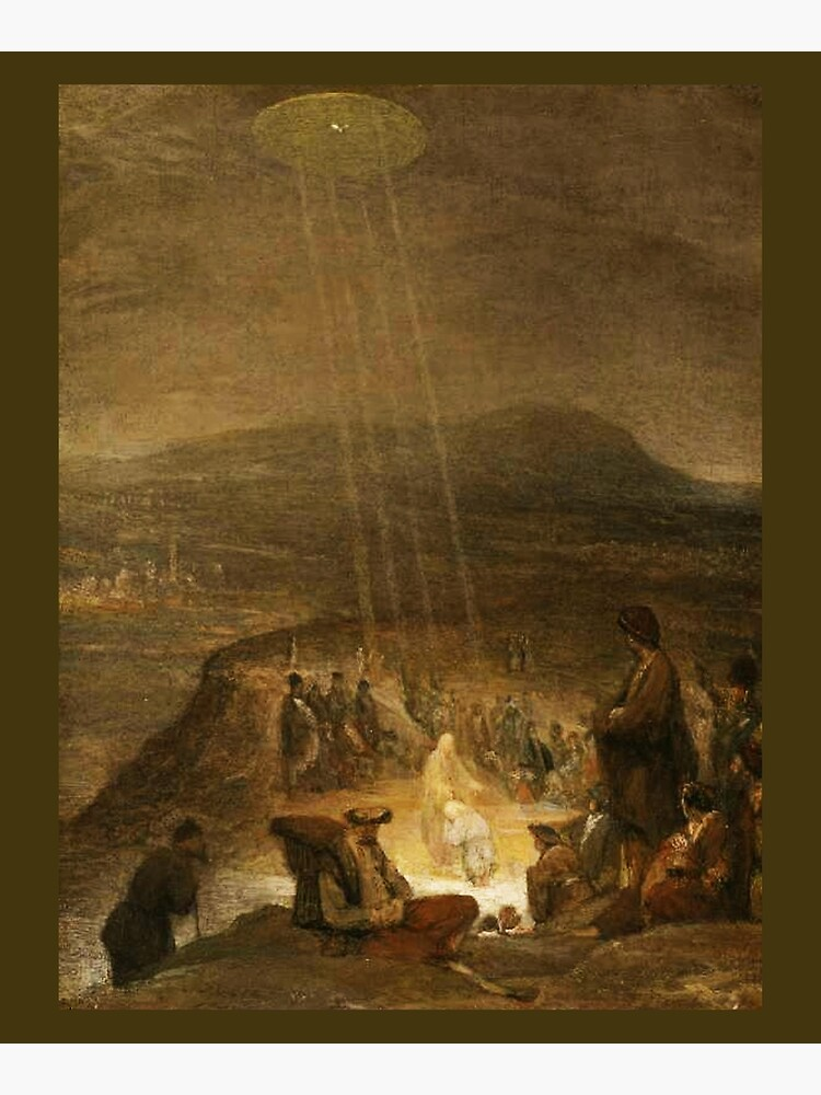 UFOs in Ancient Art. Baptism of Christ. 1710. Painting by, Aert de Gelder. by TOMSREDBUBBLE