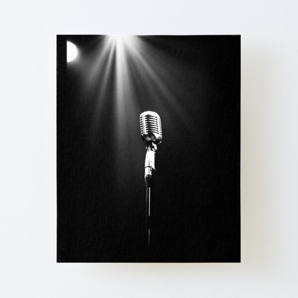 Classic Microphone Canvas Mounted Print