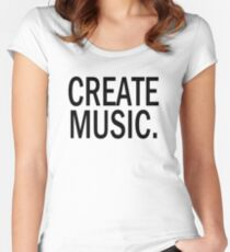 Austin Carlile Create Music Women's Fitted Scoop T-Shirt
