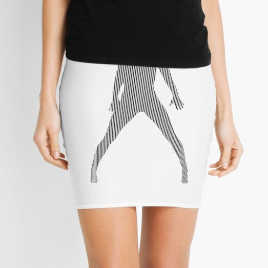 #Monochrome, #design, #art, #abstract, pattern, vector, illustration, steel, wallpaper Mini Skirt