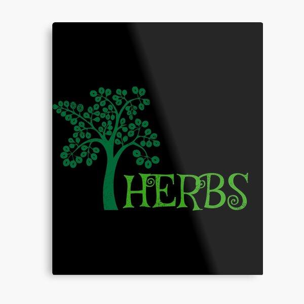 Cute Herbs Gardening Weeding Plants Gardener Metal Print