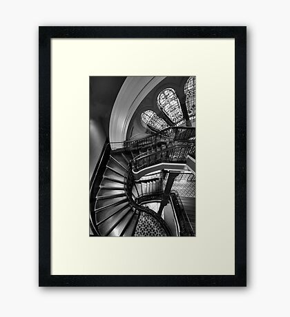 Off The Rails  (Monochrome) - QVB , Sydney - The HDR Experience Framed Print
