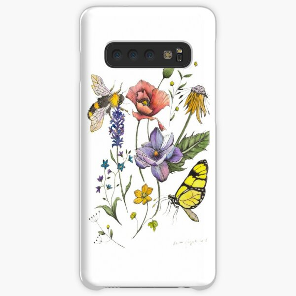 Bees & Flowers Watercolour Pattern Samsung Galaxy Snap Case