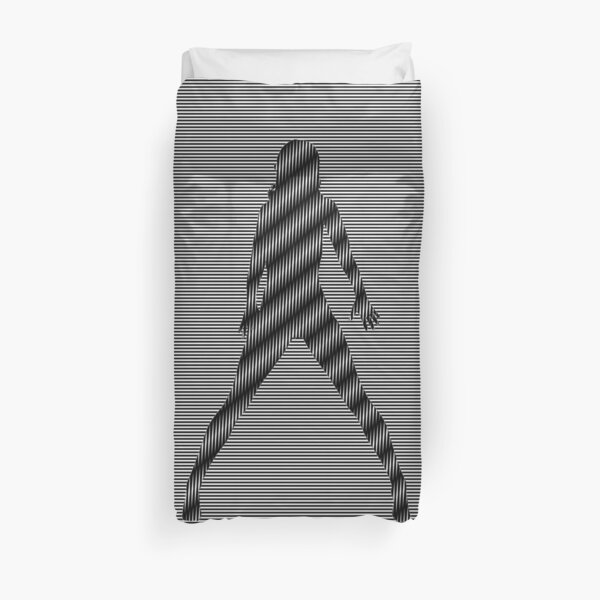 #Monochrome, #design, #art, #abstract, pattern, vector, illustration, steel, wallpaper Duvet Cover