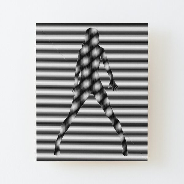 #design, #art, #abstract, pattern, vector, illustration, steel, wallpaper Wood Mounted Print