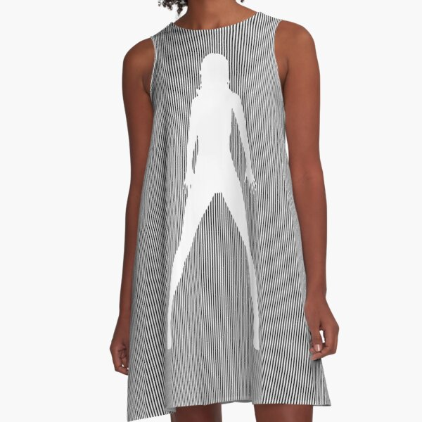 #Monochrome, #design, #art, #abstract, pattern, vector, illustration, steel, wallpaper A-Line Dress
