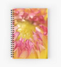 Pink and Yellow Dahlia, As Is Spiral Notebook