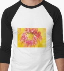 Pink and Yellow Dahlia, As Is Men's Baseball ¾ T-Shirt