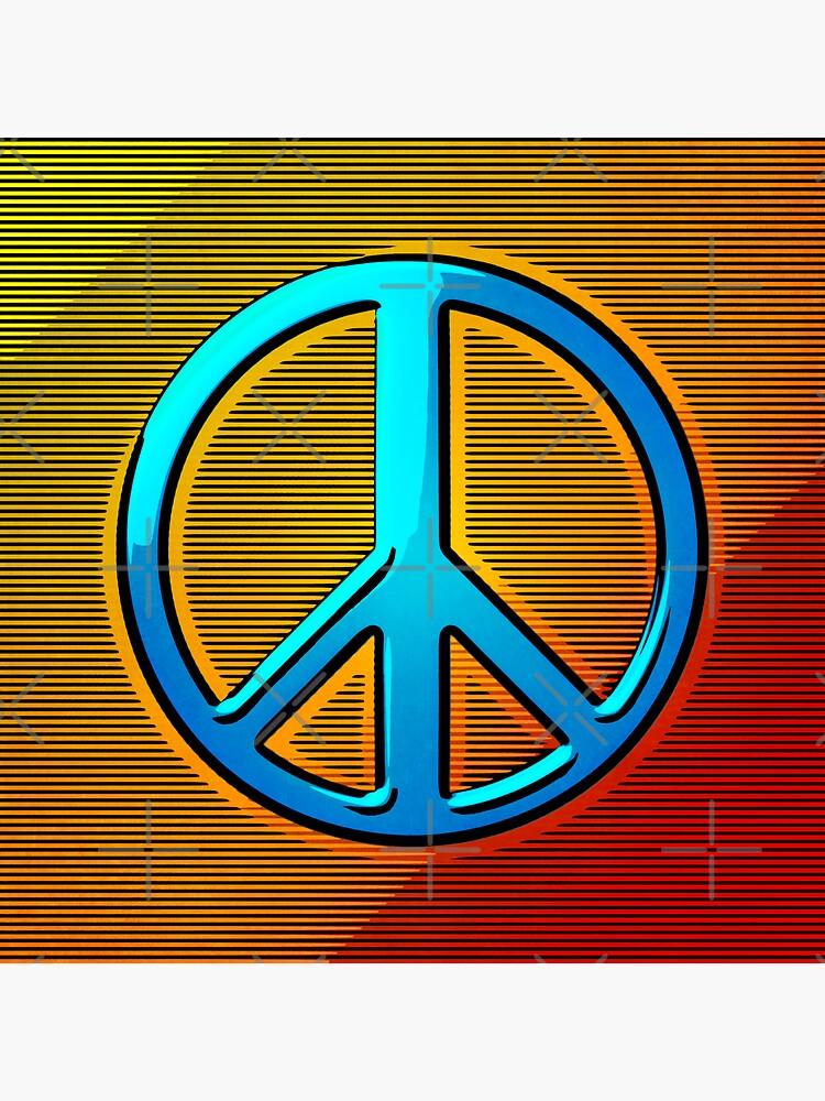 Retro Peace Sign by perkinsdesigns