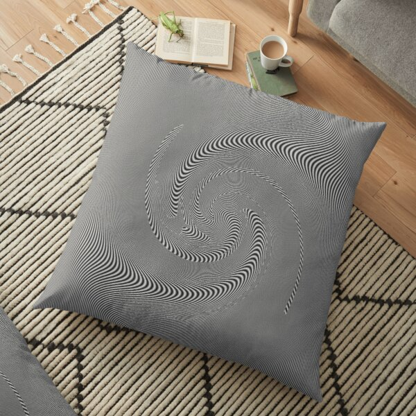 #pattern, #repeat, #abstract, #design, illustration, art, geometry, circle Floor Pillow