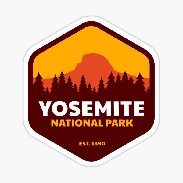 Yosemite National Park Badge Sticker