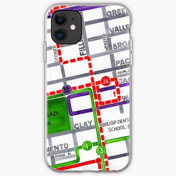San Francisco map - Pacific Heights iPhone Soft Case