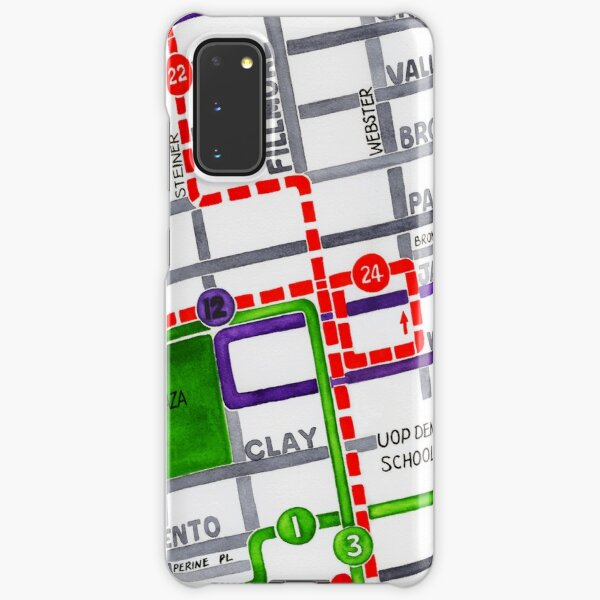 San Francisco map - Pacific Heights Samsung Galaxy Snap Case