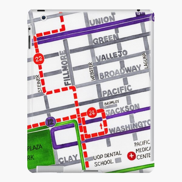 San Francisco map - Pacific Heights iPad Snap Case