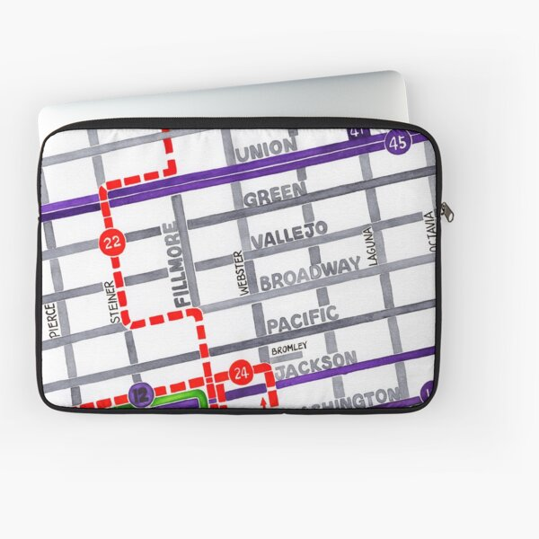 San Francisco map - Pacific Heights Laptop Sleeve