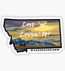 Montana Mission Mountains Shed Sticker