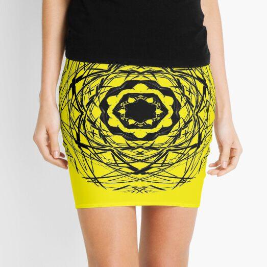 #pattern, #repeat, #abstract, #design, illustration, art, geometry, circle Mini Skirt