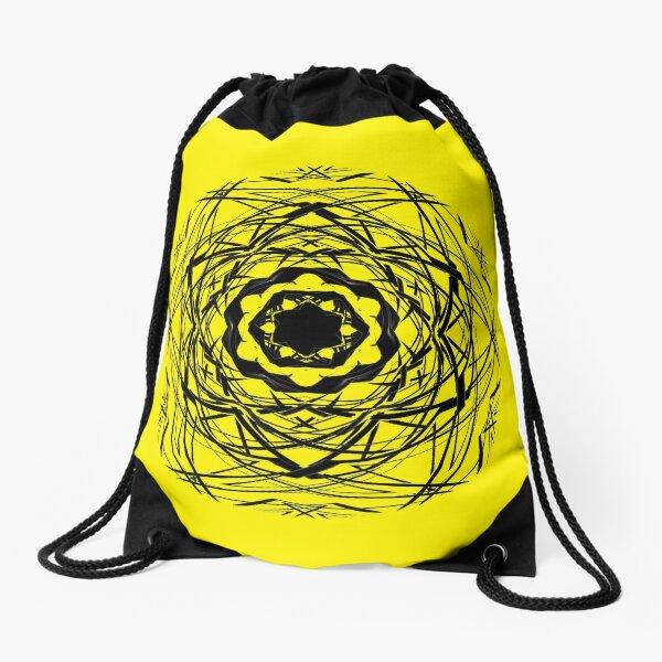 #pattern, #repeat, #abstract, #design, illustration, art, geometry, circle Drawstring Bag