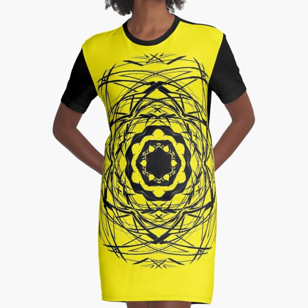 #pattern, #repeat, #abstract, #design, illustration, art, geometry, circle Graphic T-Shirt Dress